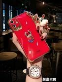 牛年蘋果11手機殼女款網紅iPhone11攝像頭全包pro新款max高檔x紅色xr硅膠xsmax防摔 創意新品