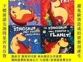 二手書博民逛書店便便恐龍套裝罕見英文原版 Dino that pooped co
