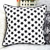 時尚星星印花沙發靠枕 抱枕 腰枕 靠背墊