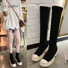 長筒靴 不過膝長筒靴子2020年新款中筒彈力靴高筒襪靴韓版百搭時尚短靴潮 零度3C