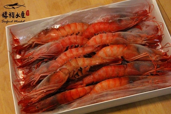 【禧福水產】巨無霸生食葡萄蝦◇$特價550元/500g±10%包/約13隻◇最低價 頂級食材/鮮甜美味 可批發
