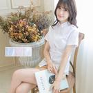 加大尺碼上班團體制服 女孩彈性伸縮短袖白襯衫【Sebiro西米羅男女套裝制服】018040812
