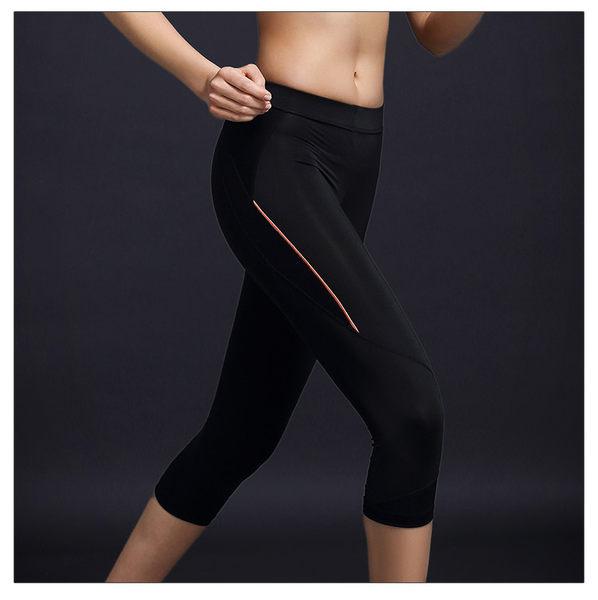 緊身顯瘦透氣速幹訓練七分褲戶外跑步瑜伽褲   - 11583001