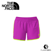 【THE NORTH FACE 女 FLASHDRY快排短褲 紫紅/白/螢光綠】A7H1/越野/跑步/FLASHDRY/快乾