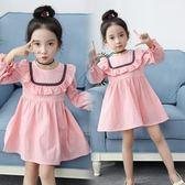 女童長袖連衣裙2019春裝新款童裝裙寶寶公主裙子兒童百搭『櫻花小屋』