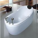 【麗室衛浴】BATHTUB WORLD  WLS-8601 小空間坐缸 壓克力造型獨立缸  1200*800*H820CM