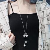 毛衣吊墜 韓國個性珍珠吊墜飾項鏈女百搭衣服配飾女掛飾 ZQ1466『男人範』