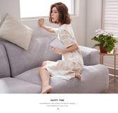韓版清新學生甜美可愛可外穿寬鬆純棉短袖睡衣