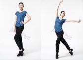 舞之戀舞蹈短袖上衣AL0230成人休閒女練功褲現代舞夏新品 居享優品