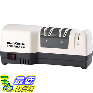 [107美國直購] Chefs Choice 250 電動和手動 三段式磨刀器 Diamond Hone Hybrid Sharpener Combines _ta4