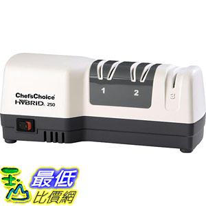 [107美國直購] Chefs Choice 250 電動和手動 三段式磨刀器 Diamond Hone Hybrid Sharpener Combines