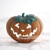 【富藝家飾】萬聖節 美國鬼節 Halloween 南瓜蠟燭台擺飾  裝飾品 禮品