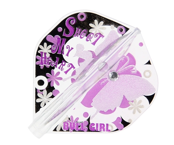【Fit Flight AIR】BULL GIRL Standard Black x Purple 鏢翼 DARTS