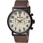 Timberland偵探時刻復古腕錶 TBL.15405JSQB/07 米色