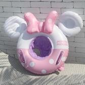 兒童卡通粉色蝴蝶結女游泳圈