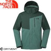 【The North Face 男款 DryVent 防水外套ZIP《墨綠》】3665WBS/衝鋒衣/防水/保暖/外套★滿額送