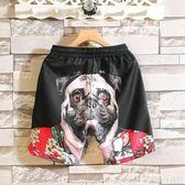 夏季社會小伙短褲男精神快手紅人同款速干沙灘褲大碼雪紡五分褲子艾美時尚衣櫥