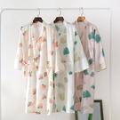 居家浴袍 睡袍女夏純棉日式薄款寬鬆中長款休閒浴袍睡衣甜美可愛汗蒸家居服 美物 交換禮物
