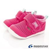日本Moonstar機能童鞋 HI系列速乾款 B991桃紅(寶寶段)