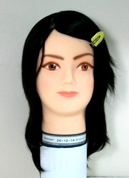考試用日本假人頭  241214   仿真髮一根一根製作      日本原裝進口