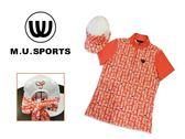 MU 2018 夏 女裝 MU Logo 滿版高爾夫Polo衫