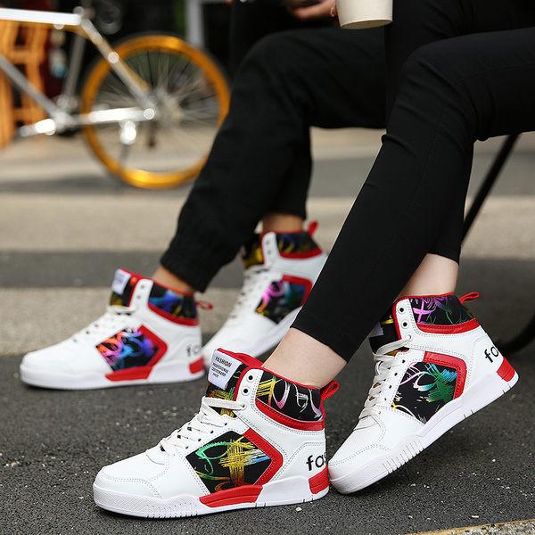 情侶鞋 高幫帆布鞋 保暖加絨運動休閑鞋 E3116