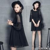 孕婦夏裝連身裙中長款新款時尚潮媽上衣韓版懷孕短袖裙子