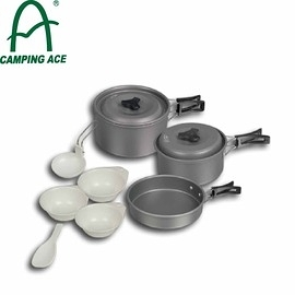 【CAMPING ACE 野樂 2-3人硬質氧化鍋】ARC-1523/登山/露營/收納式鍋具/炊具/湯鍋