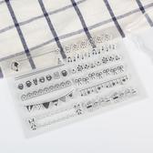 【BlueCat】節慶旗幟美妙音符透明矽膠印章