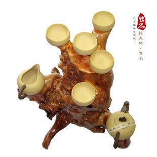 多款根雕博古架 擺件 百年木癭瘤 茶壺玉奇石紅木底座