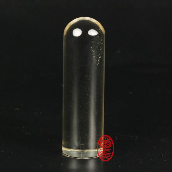 水晶印章-白水晶印章圓形(開運印鑑)(印章材質) 手工刻印