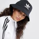 ADIDAS 漁夫帽 BUCKET HAT 黑 三葉草 電繡 印花 休閒 (布魯克林) AJ8995
