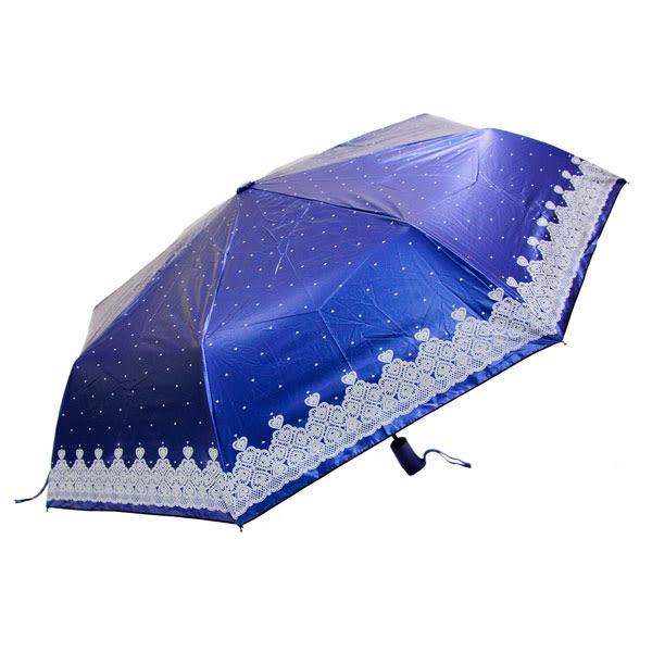 愛心蕾絲色膠布-58玻纖自動開收傘 3025-1 隨機出貨 22246《Belle倍莉小舖》