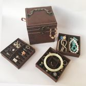 復古珠寶盒歐式精致小號飾品盒公主簡約收納盒手飾盒珠寶盒化妝盒