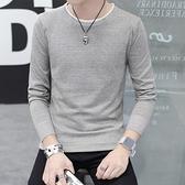 冬季t恤男長袖韓版修身圓領打底衫線衣冬裝毛衣上衣學生衛衣 雙十二全館免運