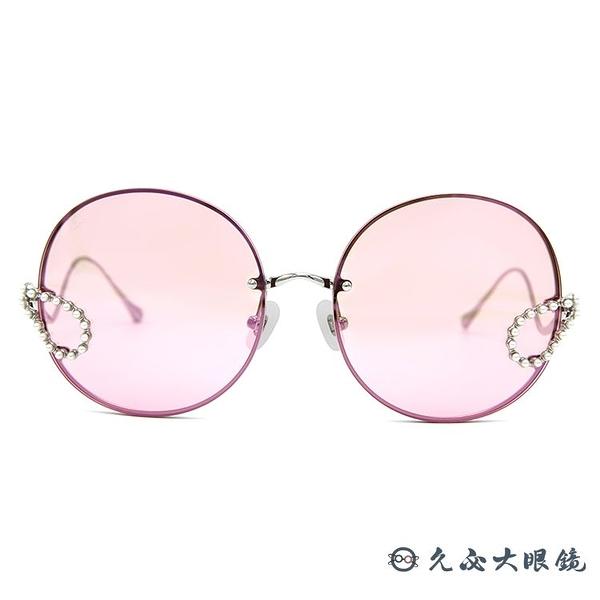 For Art's Sake 太陽眼鏡 Passion Fruit EC3 (銀) 時尚珍珠 大框 久必大眼鏡