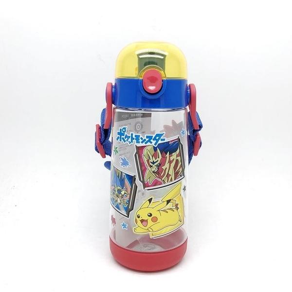 日本 Skater 精靈寶可夢 透明按壓式 直飲水壺480ml PDDR5(7674) -超級BABY