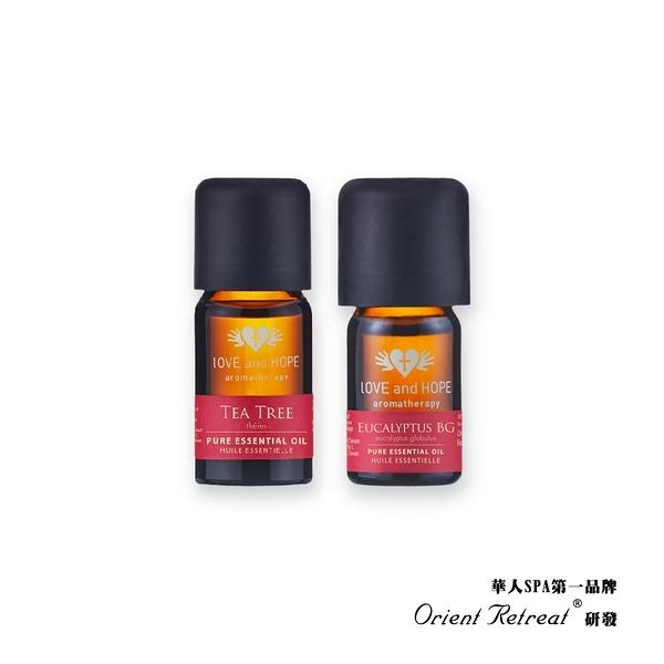 【Orient Retreat登琪爾】防疫淨化2件組-茶樹精油10ml +藍膠尤加利精油5ml (可滴於口罩/淨化空氣)