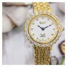 愛其華 Ogival 瑞士 真鑽 晶鑽 防水 女錶 (3811DLK 金色)