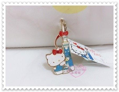 ♥小花花日本精品♥ Hello Kitty 吊飾 皮包吊飾 鑰匙圈 晴空塔 日本限定 東京限定 67870509