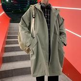 中長款風衣男韓版潮流百搭ins寬鬆連帽夾克秋裝上衣潮牌秋季外套 寶貝計畫