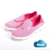 【W&M】MODARE 超彈力條紋舒適瑜珈鞋墊女鞋-粉(另有藍/黑)