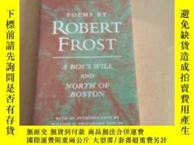 二手書博民逛書店Poems罕見by Robert Frost: A Boy s