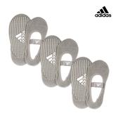 Adidas 防滑吸汗瑜珈襪-灰 (24-26cm)三入組