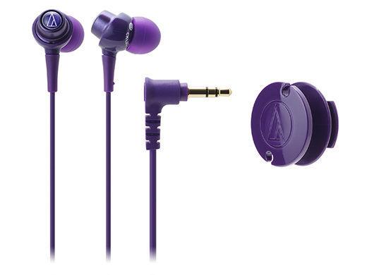 【台中平價鋪】全新鐵三角 ATH-CKL203 耳塞式耳機 紫色 馬卡龍糖果造型   台灣鐵三角公司貨