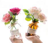 人造花 ins北歐干花清新絹花假花仿真花客廳花瓶裝飾品套裝餐桌花藝擺件 芭蕾朵朵