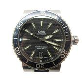 【特價32%OFF】ORIS 金屬色面盤矽膠錶帶潛水自動上鍊機械腕錶 7533P 【BRAND OFF】
