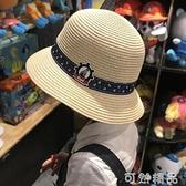 兒童草帽男童大檐遮陽帽親子帽母子沙灘帽出游寶寶涼帽小孩太陽帽