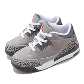 Nike 籃球鞋 Air Jordan 3 Retro TD 灰 橘 爆裂紋 酷灰 童鞋 小童鞋 小朋友 AJ3 【ACS】 832033-012