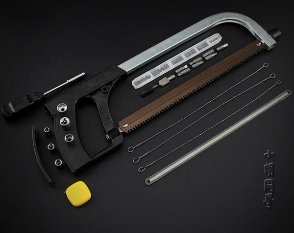 鋼鋸萬用曲線鋸子簡易多功能鋸 手工鋸木工鋸弓鋼絲鋸 迷你模型鋸